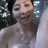 一条綺美香 50代の綺麗な母親が温泉で息子に巨乳を押し当て背徳セックス